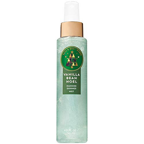 (Bath & Body Works Vanilla Bean Noel 4.9 Oz Diamond Shimmer Mist, 4.9 Ounce)