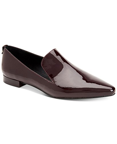 Calvin Klein Womens Elin Pointed-Toe Flats Shoes Oxblood 10 M US
