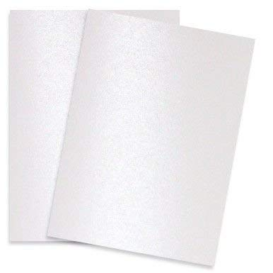 Shimmer Pure White Pearl 92C 8-1/2-x-11 Cardstock Paper 100-pk - PaperPapers 2pBasics 249 GSM (92lb Cover) Letter Size Card Stock Paper - Business, Card Making, Designers, Professional and DIY