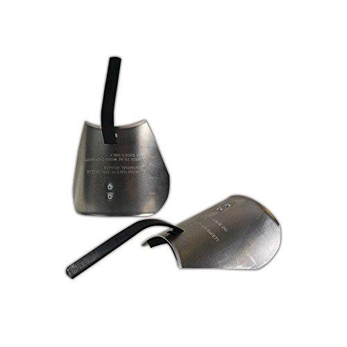 Ellwood Safety 800 Aluminum Alloy Metatarsal Guard, 6'' x5.5'' x3.5'', Silver, 6'' x5.5'' x3.5'' by Ellwood Safety (Image #1)