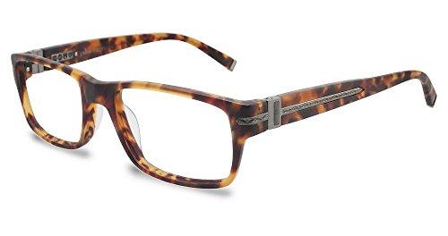 New John Varvatos Men's Prescription Eyeglasses - V349 UF Matte Tortoise - 52/17/140