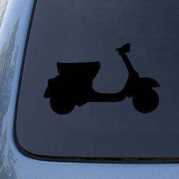 VESPA SCOOTER - Vinyl Car Decal Sticker #1756 | Vinyl Color: Black