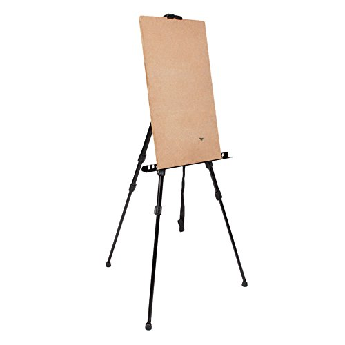 Olymstore Artist Iron Folding Drawing Sketching Painting Easel Display Tripod Light Weight With Carry Bag Black
