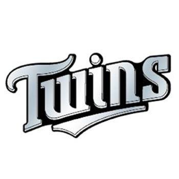 MLB Minnesota Twins Chrome Automobile Emblem