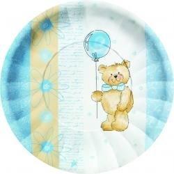 Teddy Bear blue picnic pack of 10 paper plates boy party 23cm diameter  sc 1 st  Amazon UK & Teddy Bear blue picnic pack of 10 paper plates boy party 23cm ...