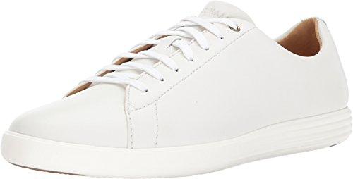 (Cole Haan Women's Grand Crosscourt Sneaker, White Leather, 8 W US)