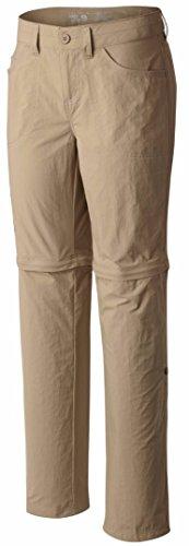 Mountain Hardwear Women's Convertible Pants 4, Khaki