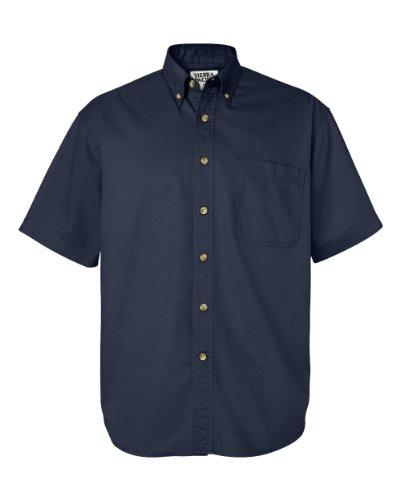 Sierra Pacific Men's Short Sleeve Cotton Twill, Navy, XX-Large