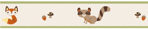 Sweet Jojo Designs Forest Friends Baby and Kids Wall Paper Border