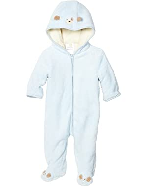 Absorba Baby-Boys Newborn Fuzzy Footie