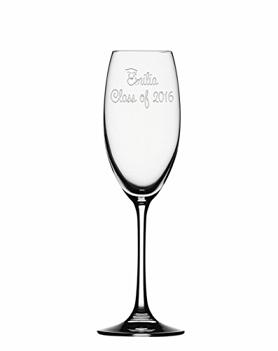 (Customized Champagne Flute, Graduation Champagne Glass, Personalized Toasting Flute Glasses,Graduation Gifts,Customized Graduation gifts)