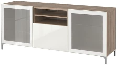 Ikea Meuble Tv Avec Bonde Tiroirs Effet Noyer Gris Clair