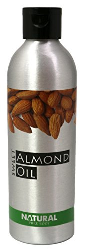 Natural Sweet Almond Oil - 200ml - Cold Pressed, Vegan Friendly, Suitable...