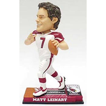 (Caseys Distributing Arizona Cardinals Matt Leinart Forever Collectibles On Field Bobblehead )