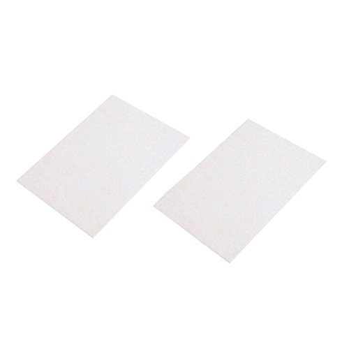 Vosarea 2Pcs Cuttable Table Legs Antislip Floor Protectors Furniture Felt Pads Floor Protectors - White