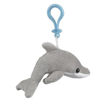 Amazon Com Dolphin Stuffed Animal Clip Toy Keychain By Wild Life