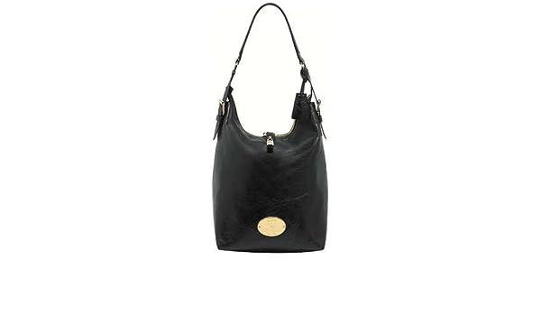 15ca4e56bf Amazon.com   Mulberry Bag Bella Hobo Black Buffalo Shine   Cosmetic Tote  Bags   Beauty