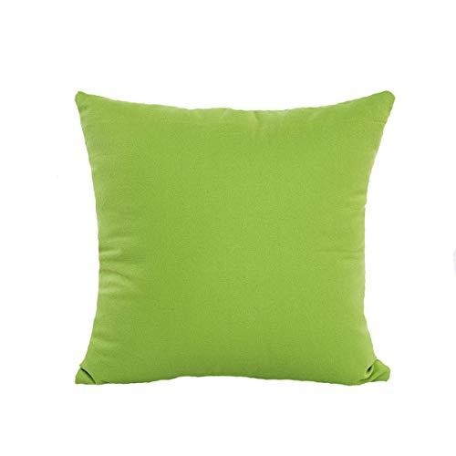 Price comparison product image Hongxin Pillow Cases, 5pcs Fashion Cotton Linen Soft Solid Color Throw Pillow Cases Cafe Sofa Cushion Cover Home Decor (Green,  45cm45cm)