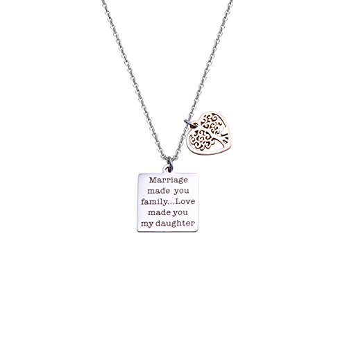 DYbaby Wedding Jewelry Gift-Marriage Made You My Family Love Made You My Daughter Pendant Necklace for Stepdaughter and Daughter in Law (Necklace) by DYbaby