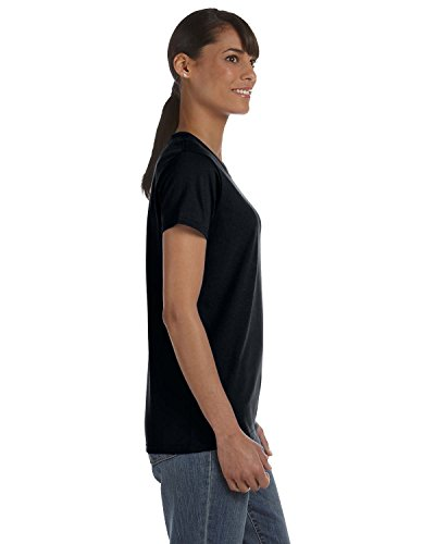 Heavy Cotton Ladies 5.3 oz. Missy Fit T-Shirt, 3XL, BLACK