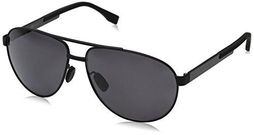 BOSS by Hugo Boss Men's B0752fs Polarized Aviator Sunglasses, Black