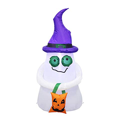 Leoie 1.2m Halloween Scary Inflatable Ghost for Halloween Party Stage Prop Home Yard Ornaments Pumpkin Shopping Bag Small Ghost ()