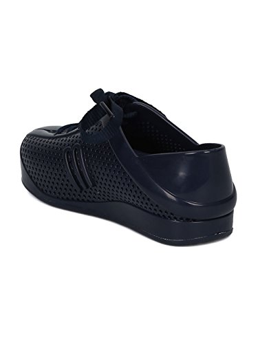 Melissa Mini Mini Love System PVC Perforated Lace up Sneaker HC08 - Navy Blue Mix (Size: Toddler 8) by Melissa (Image #2)