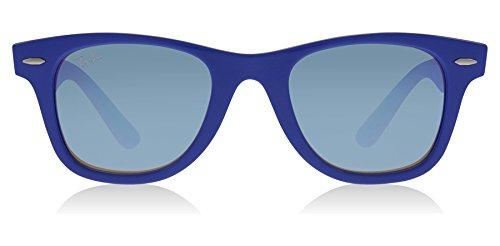 RAY-BAN JUNIOR Kids' RJ9066S Wayfarer Kids Sunglasses, Blue/Blue Gradient Flash, 47 mm by RAY-BAN JUNIOR