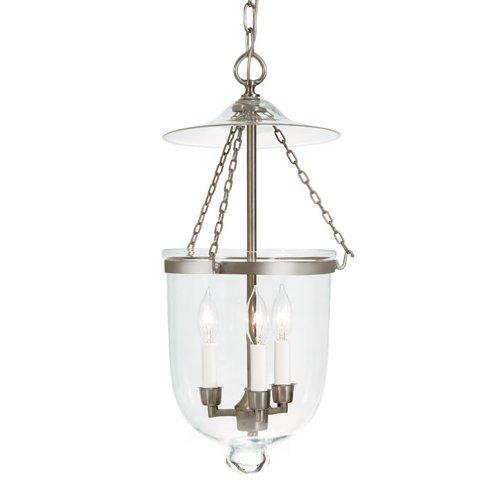 JVI Designs 1023-17 Bell Jar Lantern with Clear Glass, Me...