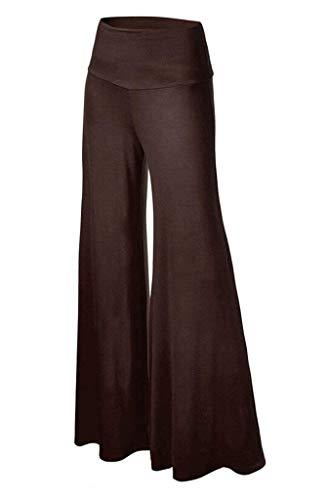 Tempo Larghi Gonna Libero Eleganti Pants Lungo Baggy Pantalone Yoga Palazzo Donna Marrone Damigella Pantaloni High Colori Accogliente Waist Solidi fBwvfO7Hq