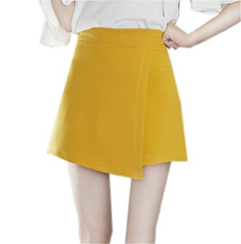 Miniskirt Avec Femelle Skirt Taille Papillon Femme Haute Jupe Yellow2 Universite Jupe Crayon Jupe Tayaho Couleur Court Noeud Unie Loisir xwvg0qIR