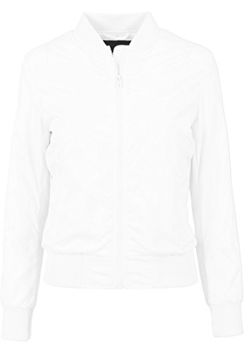 Ladies Mujer blanco Jacket Light Chaqueta Bomber Urban Classics CvwgqgxO