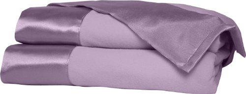 Shavel All Seasons Year Round Sheet Blanket with Satin Hem, King, Amethyst (King Amethyst)