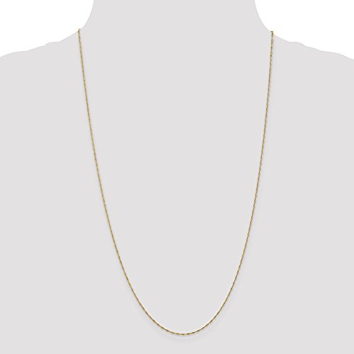 ICE CARATS 14k Yellow Gold 1mm Link Singapore Chain Necklace 30 Inch Fine Jewelry Gift Set For Women Heart by ICE CARATS (Image #5)