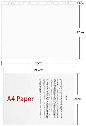 DIN A4 45/Mikrometer stark seitlich gestanzt glasklar transparent Klarsichth/üllen 104/Klarsichth/üllen Einzeln ST-9605 durchsichtig