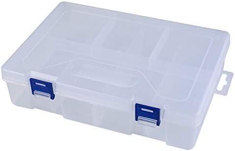 Pudincoco Dos capas de celdas Caja de herramientas portátil Parte electrónica Tornillo Perlas Anillo Joyas Caja de componentes Caja de almacenamiento de plástico Contenedor de contenedores: Amazon.es: Bricolaje y herramientas