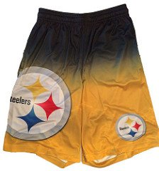 FOCO NFL Pittsburgh Steelers Football Team Logo Gradient Big Logo Training Shorts, Team Color, Large