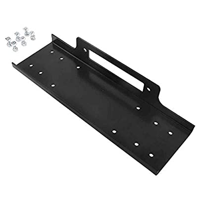 Recovery Winch Mounting Plate Mount Bracket for Truck Trailer SUV Jeep