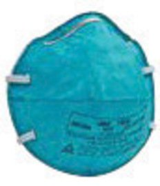 3M™ Standard N95 1860 Health Care Disposable Particulate Respirator and Surgical Mask With Adjustable Nose Clip - Meets NIOSH, FDA And ASTM Standards (20 Each Per (Standard Disposable)