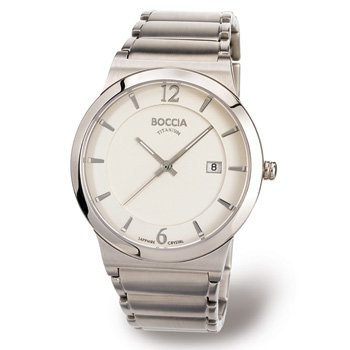 Boccia Men's Quartz Watch Superslim 3565-01 with Metal Strap