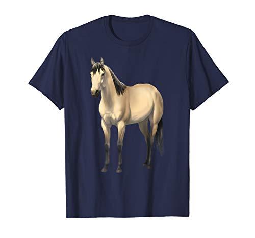 Beautiful Buttermilk Buckskin Quarter Horse Tshirt ()