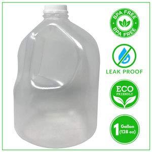 BPA Free 1 Gallon Water Jug Bottle Reusable Leak Proof. Free Cap Environmentally Friendly (Water 1 Gallon Jug Reusable)