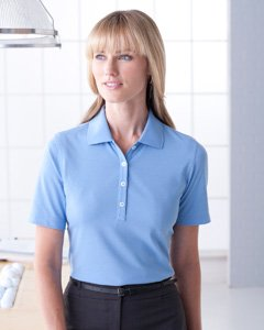 (Ashworth 1147C Ladies High Twist Cotton Tech Polo-Short Sleeves)