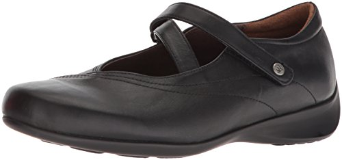 Wolky Comfort Mary Janes Silky Black Smooth Leather