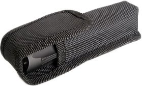 Ballistic Nylon Flashlight Holster, Black