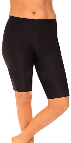 Aquabelle Women's Chlorine Resistant Long Bike Short 10 - Chlorine Resistant Shorts