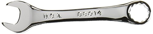 SK Hand Tool 88014 12-Point Short Combination Wrench, 7/16-Inch, Full Polished Finish