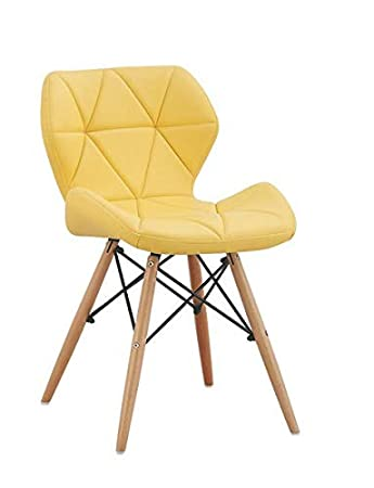 Finch Fox Faux Leather Dining Chair (Yellow)