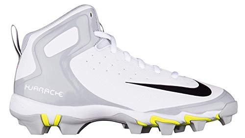 1347034bbc49 Nike Kids  Alpha Huarache Keystone Mid Baseball Cleats(White Grey