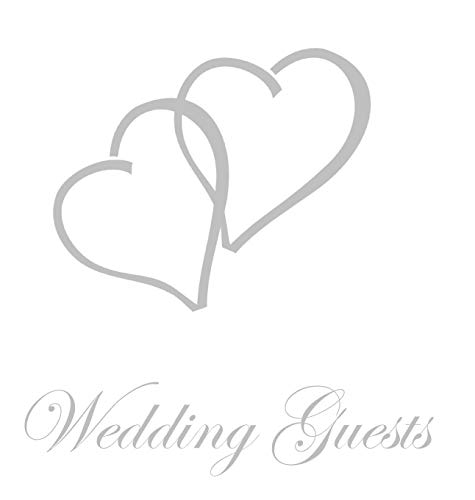 Wedding Guest Book, Bride and Groom, Special Occasion, Comments, Gifts, Well Wish's, Wedding Signing Book with Silver Love Hearts -